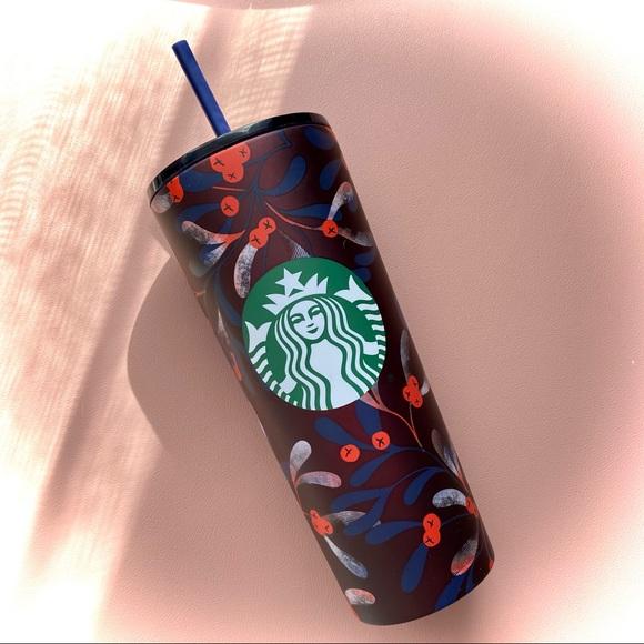 NWT Starbucks Cranberry Aluminum hot/cold tumbler